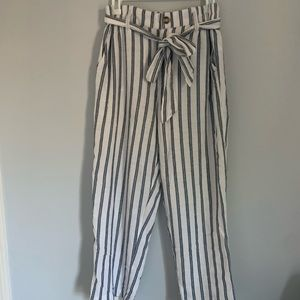 women's american eagle striped pants medium